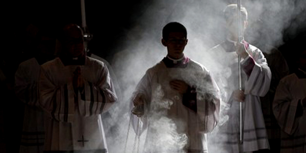 Serving at the altar