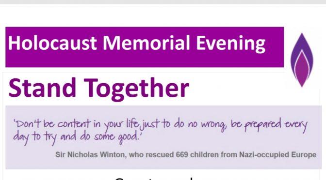 Diocesan Holocaust Memorial Evenings