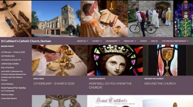 A guided tour of the Parish Website