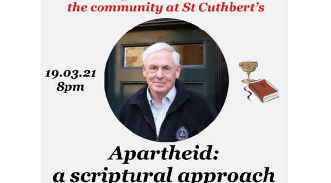 Apartheid: A Scriptural Approach to Liberation Theology